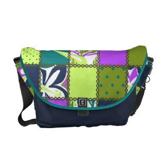 La bolsa de mensajero hawaiana del remiendo de bolsa de mensajería
