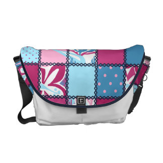 La bolsa de mensajero hawaiana del remiendo de bolsas messenger