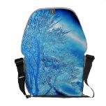 La bolsa de mensajero helada azul del árbol bolsa messenger