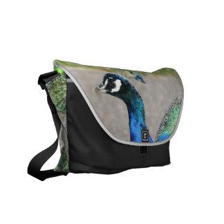 La bolsa de mensajero hermosa del pavo real bolsa de mensajeria