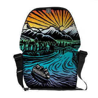 la bolsa de mensajero idílica del carrito bolsas messenger