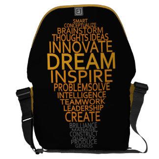 La bolsa de mensajero inspirada del personalizado  bolsa de mensajeria