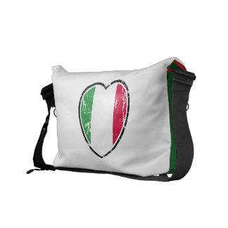 La bolsa de mensajero italiana del corazón de la b bolsas messenger
