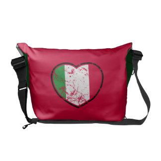 La bolsa de mensajero italiana del rojo del corazó bolsas de mensajeria