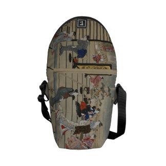La bolsa de mensajero japonesa del arte de Utamaro Bolsas De Mensajería