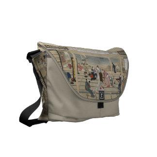 La bolsa de mensajero japonesa del arte de Utamaro Bolsas De Mensajeria