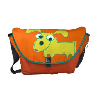 La bolsa de mensajero lánguida amarilla del naranj bolsa de mensajería