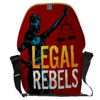 La bolsa de mensajero legal de los rebeldes bolsas de mensajería