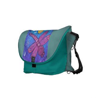 La bolsa de mensajero - libélulas en el juego bolsas de mensajeria