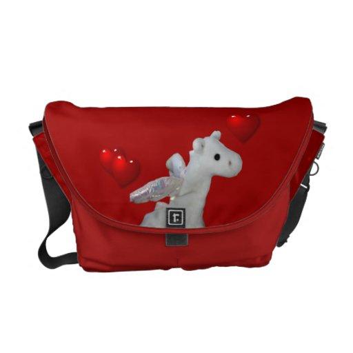 La bolsa de mensajero linda del carrito del dragón bolsas de mensajería