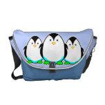 La bolsa de mensajero linda del carrito del pingüi bolsa messenger
