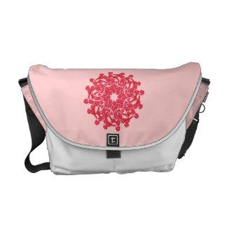 La bolsa de mensajero linda del ornamento floral bolsa de mensajería