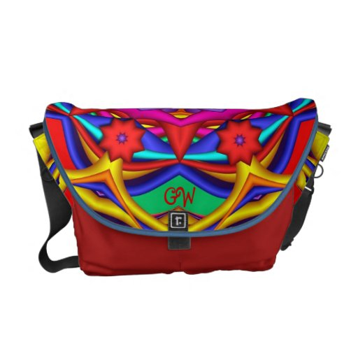 La bolsa de mensajero llamativa del fractal con el bolsa messenger