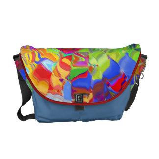 La bolsa de mensajero manchada coloreada vidrio de bolsa de mensajeria