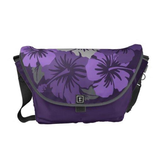 La bolsa de mensajero media hawaiana del hibisco é bolsa de mensajeria