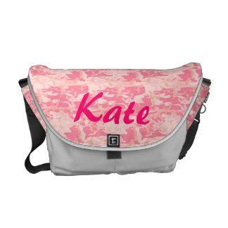 La bolsa de mensajero mediana del camuflaje rosado bolsa de mensajeria