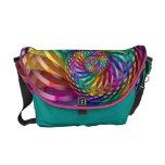 La bolsa de mensajero metálica del arco iris bolsa messenger