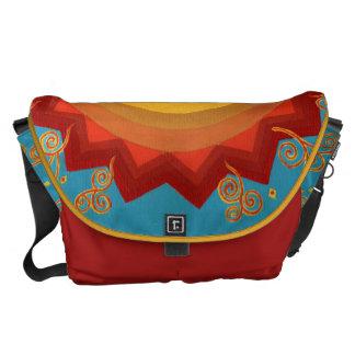 La bolsa de mensajero mexicana colorida pintada a  bolsa de mensajeria