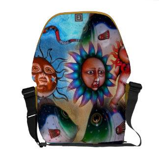 La bolsa de mensajero mexicana del carrito del art bolsas de mensajeria