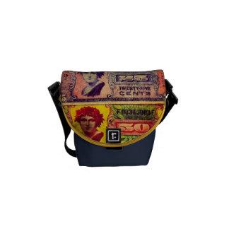 La bolsa de mensajero militar de la textura del di bolsa de mensajeria