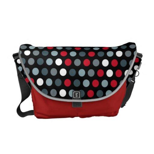 La bolsa de mensajero moderna roja de los puntos bolsa de mensajeria