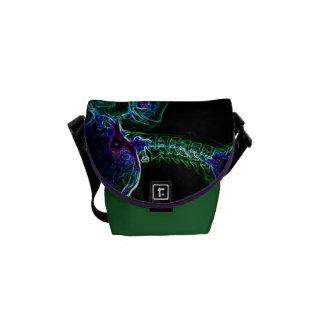 La bolsa de mensajero multicolora de la C-espina d Bolsas De Mensajería