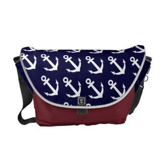 La bolsa de mensajero náutica del tema con el mode bolsas messenger