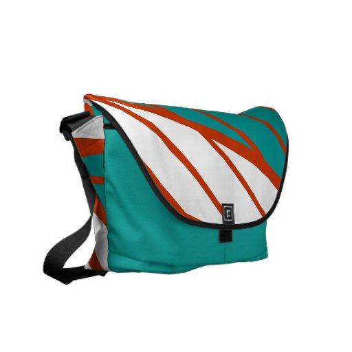 La bolsa de mensajero negra anaranjada blanca intr bolsas messenger