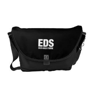 La bolsa de mensajero negra del EDS Bolsas De Mensajería