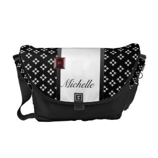 La bolsa de mensajero negra personalizada de la fl bolsa de mensajería