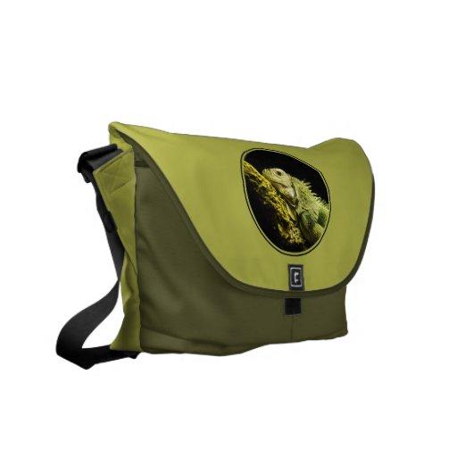 La bolsa de mensajero noble de la iguana bolsa de mensajeria