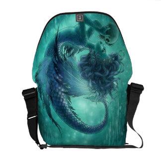 La bolsa de mensajero oscura de la sirena - besos bolsas de mensajería