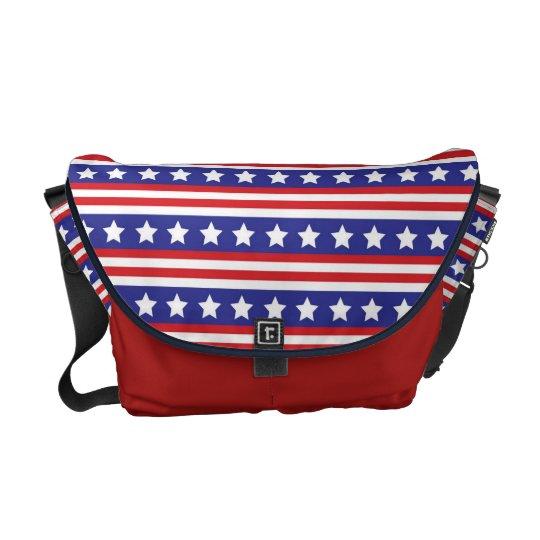 La bolsa de mensajero patriótica de las barras y bolsa de mensajería