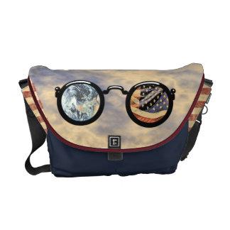 La bolsa de mensajero patriótica de mis ojos de lo bolsa messenger