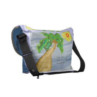 La bolsa de mensajero perezosa del carrito del bolsas de mensajería