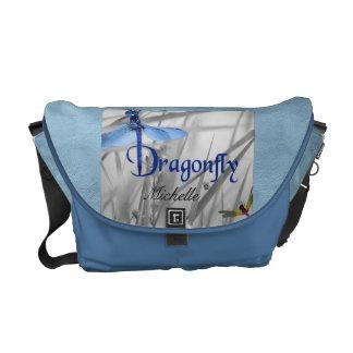 La bolsa de mensajero personalizada de la libélula bolsa de mensajería