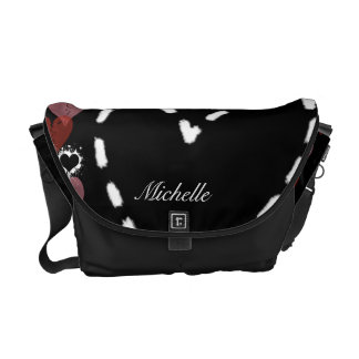 La bolsa de mensajero personalizada del corazón de bolsas de mensajería