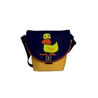 La bolsa de mensajero primitiva divertida del pato bolsa messenger