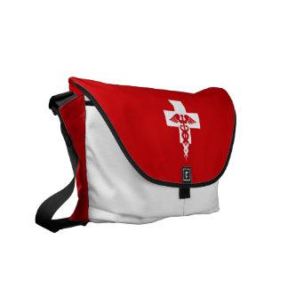 La bolsa de mensajero profesional médica de encarg bolsas de mensajería