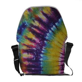 La bolsa de mensajero púrpura amarilla del teñido  bolsas de mensajeria