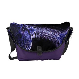 La bolsa de mensajero púrpura/azul de la C-espina  Bolsa De Mensajería