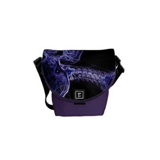 La bolsa de mensajero púrpura/azul de la C-espina  Bolsa Messenger