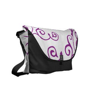 La bolsa de mensajero (púrpura) de la marfil del c bolsa messenger