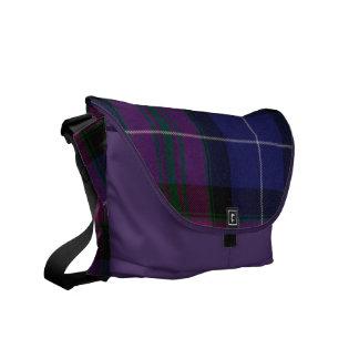 La bolsa de mensajero púrpura de la tela escocesa  bolsa messenger