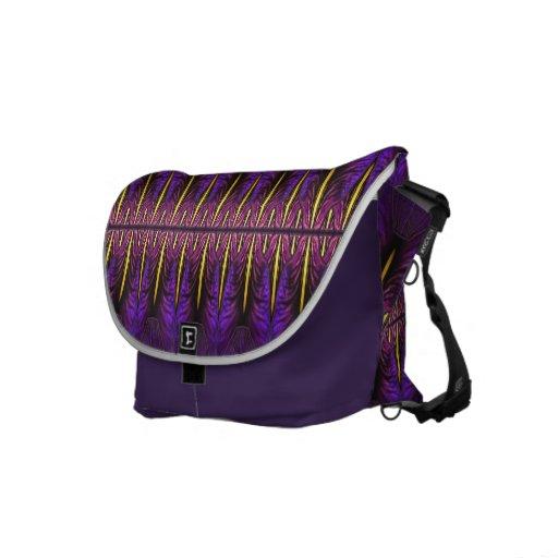 La bolsa de mensajero púrpura de la ventana del ir bolsas messenger
