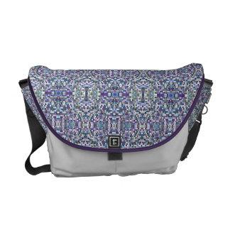 La bolsa de mensajero púrpura de los pixeles bolsas de mensajeria