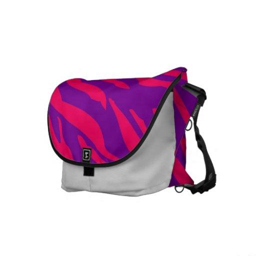 La bolsa de mensajero púrpura del animal del estam bolsas de mensajería