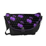 La bolsa de mensajero púrpura del lunar de las cer bolsas messenger