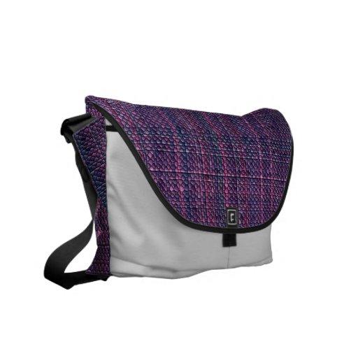 La bolsa de mensajero púrpura del mosaico bolsa de mensajeria