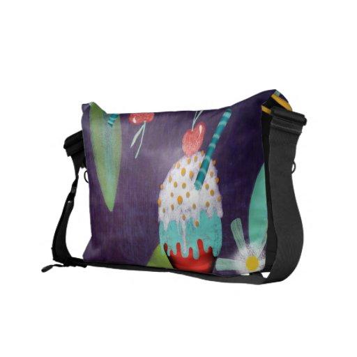La bolsa de mensajero púrpura oscura del carrito d bolsas messenger
